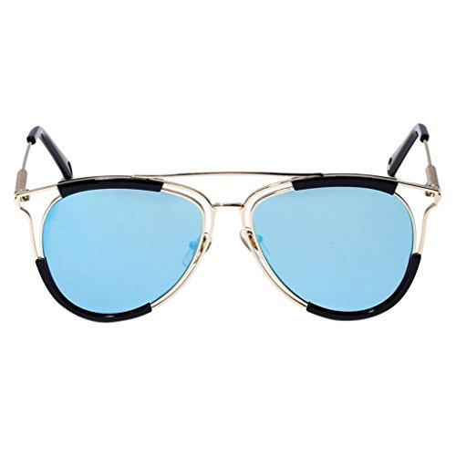 argent De Métallique Rétro Soleil UVA UVB Lunettes Vintage Sharplace bleu Polarisées 4qTwzxnf