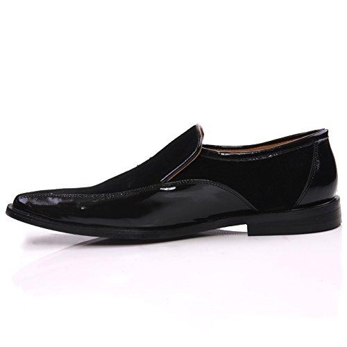 Pelle Shoes Office Unze Nero Party Slipons 'Prof' Uomo 1fqvZwPSO