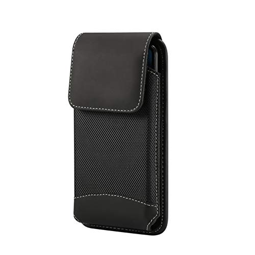 (eBuymore TM Pu Leather Oxford Loop Vertical Case Holster Belt Pouch for Huawei Mate 20 / Mate 20 Pro/LG G7 / G6 / LG V30 / LG V20 / LG Stylo 4/4 Plus/LG Stylo 3 / LG K30 / LG V35 ThinQ/LG V40 ThinQ )