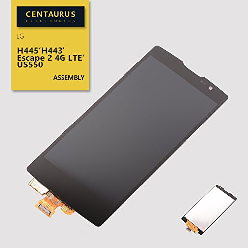 Assembly for LG C70 / Escape 2 / Spirit 4G H440Y US550 H440 H441 H420 H445 H441 H443 H440Y H440N LCD Display Touch Screen Digitizer Glass Panel Complete Full Replacement Parts (Black)]()