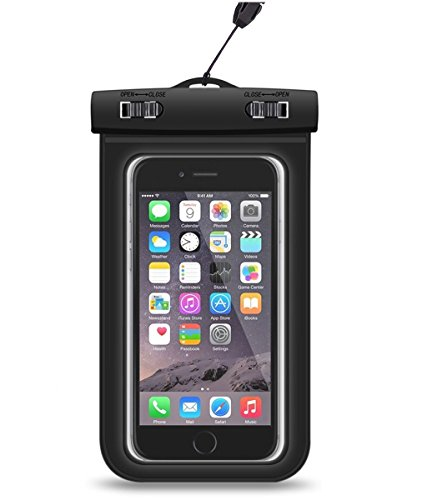 MyCell, Waterproof Pouch iPhone 6/6S/5/5S/SE/4 Universal Dry Bag, 100% Waterproof Case, Snow Proof, Black