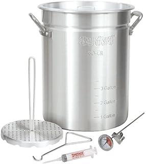 Bayou Classic 3025 30 Quart Aluminum Turkey Fryer Pot With Accessories