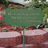 Whitehall Products 10045 Flora & Fauna Grow Old Poem Plaque