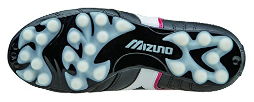 Mizuno Chaussures de football Morelia Club 24 Junior Enfant P1GB150701 Noir Blanc Rouge Taille 38.5