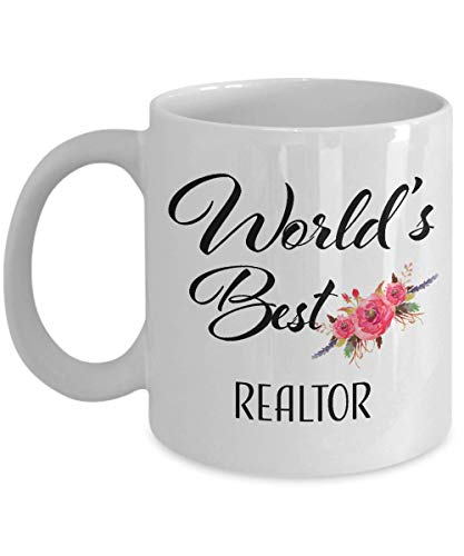 Thank You Gift for Realtor Mug Retirement Coffee Cup World's Best Ideas for Men Women Coworker Boss Appreciation Christmas Retired 2018 2019 (Best Christmas Ideas 2019)