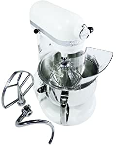 KitchenAid KP26M1XMR Professional 600 Series 6-Quart Stand Mixer, White