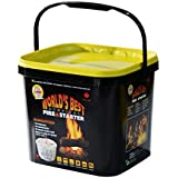 Qwick Wick Fire Starters - 65 Pack with Storage Bucket - Great for Fireplace, Wood Stoves, Camp Fires