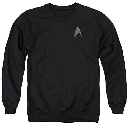 [Star Trek Darkness Capt Kirk Command Logo Uniform Costume Adult Crew Sweatshirt] (Leonard Mccoy Costume)