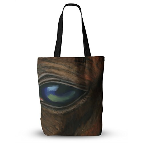 KESS InHouse Cyndi Steen ''Arabian Eye'' Brown Animals Everything Tote Bag, 18'' x 18'', Multicolor by Kess InHouse