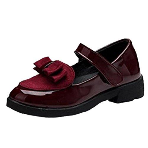 Ohmais Kinder Mädchen flach Freizeit Sandalen Sandaletten Kleinkinder Mädchen Halbschuhe Sandalette Ballerinas Rotwein