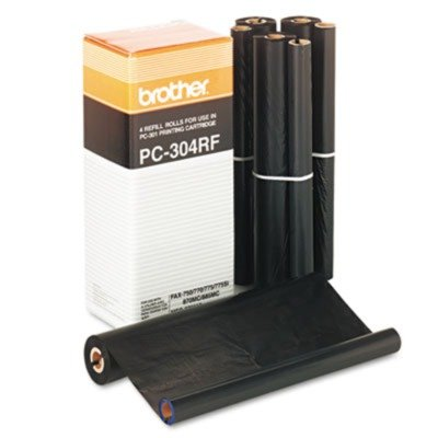 PC304RF Thermal Ribbon Refill Roll, 4/Box by BROTHER (Catalog Category: Office Equipment & Equipment Supplies / Fax) (Brother Pc304rf Fax)