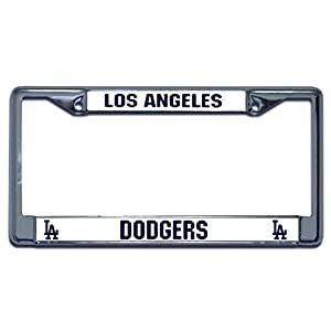 Amazon Com Los Angeles Dodgers Mlb Chrome License Plate