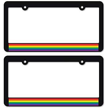 Amazon Com Custom Car Gear Gay Pride License Plate Frames