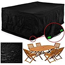 FEMOR Rectangular Patio Furniture Cover Table and Chair Set Cover Waterproof for Outdoor Garden Furniture Care Medium