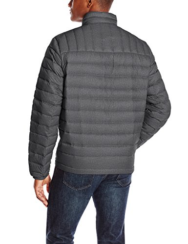 Tommy Hilfiger Men's Lightweight Packable Puffer Jacket, Cross Dye Charcoal, Medium