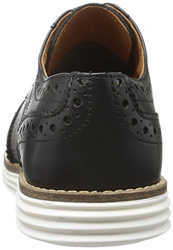 SHOOT Damen Shoes Sh-2165102 Brogue Schnürhalbschuhe Schwarz (Black)