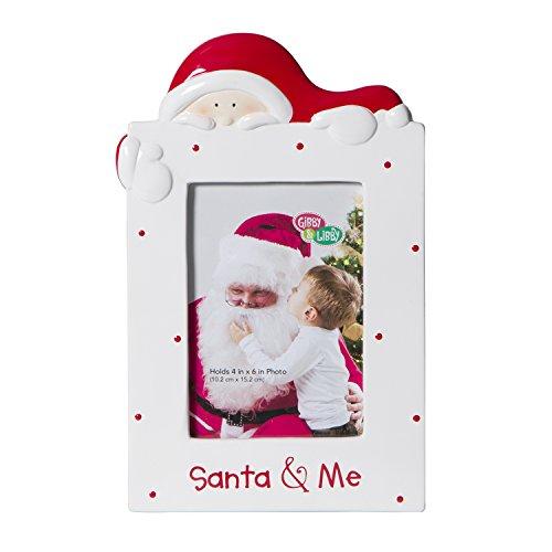 C.R. Gibson Ceramic Tabletop Photo Frame, Gibby and Libby/Santa and Me (Santa Frame)