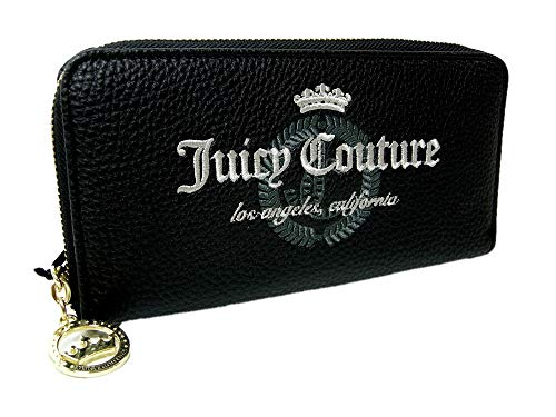 Juicy Zip Couture (New Juicy Couture Logo Zip Around Large Wallet Black White Purse Hand Bag Clutch)