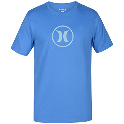 New Hurley Men's Circle Icon Dri-Fit Ss Tee Crew Neck Polyester Black