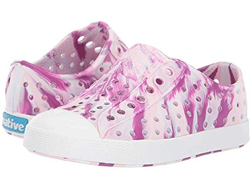 Native Kids Shoes Baby Girl's Jefferson Marbled (Toddler/Little Kid) Blossom Pink/Shell White/Marbled 13 M US Little Kid
