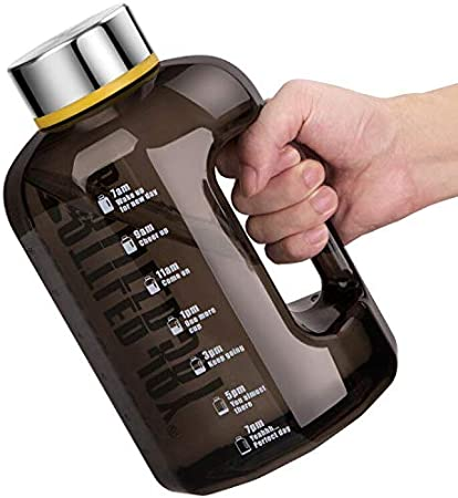 VENNERLI Half Gallon Water Bottle Leakproof 2.2L/74oz Large Sport Water Jug Wide Mouth Durable BPA Free with Handle Plastic Water Bottle for Gym Outdoor Sports Office Daily