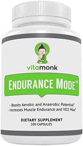 Endurance Mode Endurance Supplement by Vitamonk – Fast Acting Endurance Booster – Break Through Plateaus With Quick V02 Boost Made With All-Natural Cordyceps Sinensis, L-Carnitine L-Tartrate and More