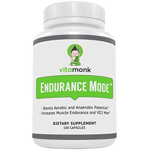 Endurance ModeTM Endurance Supplement by Vitamonk - Fast Acting Endurance Booster - Break Through Plateaus With Quick V02 Boost Made With All-Natural Cordyceps Sinensis, L-Carnitine L-Tartrate and More