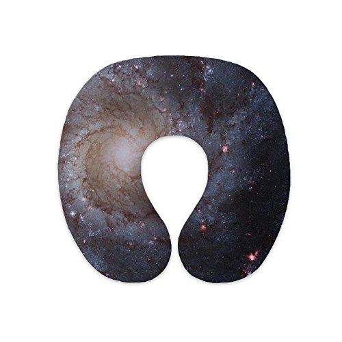 wendana Beautiful Galaxy Design U Neck Pillows Support Memory Foam Travel Neck Pillows for Sleeping for Airplane for Children Christmas Birthday Gifts for Kids style 1