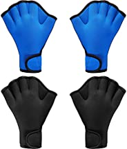 2 Pairs Swimming Gloves Aqua Fit Swim Training Gloves Neoprene Gloves Webbed Fitness Water Resistance Training