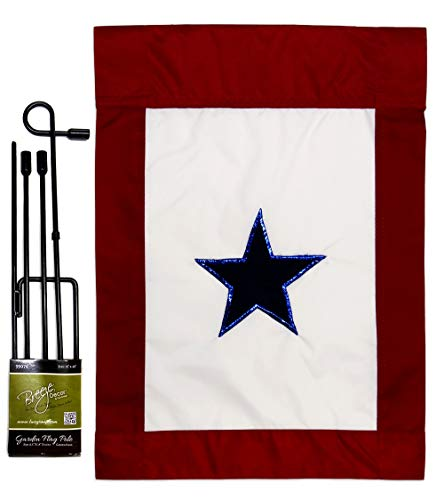 Two Group GS108042-P2 Blue Star Service Americana Military Applique Decorative Vertical 13
