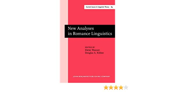 Amazon com: New Analyses in Romance Linguistics: Selected