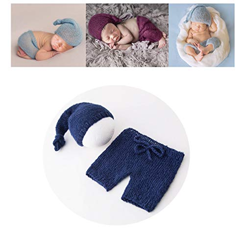 (Vemonllas Fashion Cute Newborn Boy Girl Baby Costume Outfits Photography Props Hat Pants)