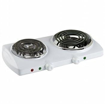 Royal Portable Smart Electric Twin Burner Portable Buffet Range - White