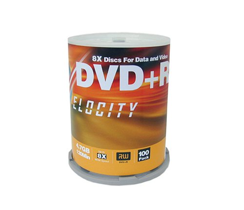 UPC 780269241108, Velocity 8X 4.7 GB DVD+R (100-Pack Spindle) (Discontinued by Manufacturer)