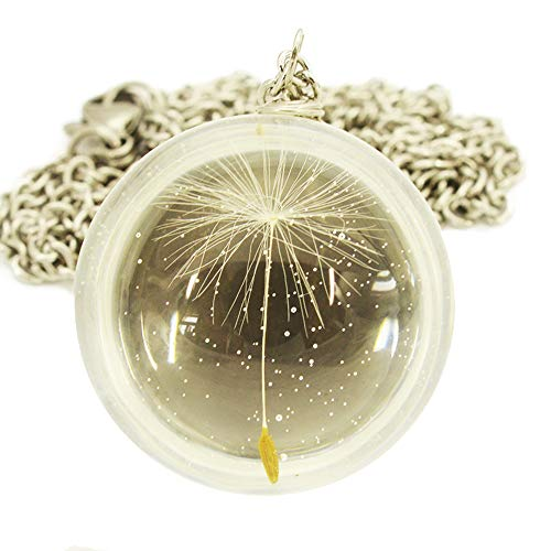 - Felicity Store Make a Wish Dandelion Necklace Handmade Pendant Fashion Jewelry