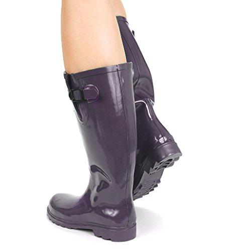 Twisted Frauen Drizzy Tall Cute Gummiregen Stiefel Lila