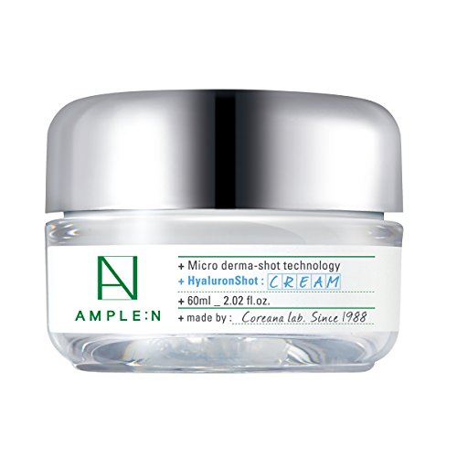 ([AMPLE:N] Hyaluron Shot Cream 2.02 fl. oz. (60ml) - Xylitol Complex and Ceramide Contained Moisturizing & Rich Nourishing Cream, Smooth Skin Texture)