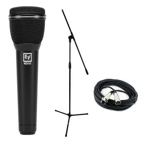 Electro-Voice ND96 Dynamic Supercardioid Vocal Microphone Microphone Essentials Accessories Kit by Electro-Voice
