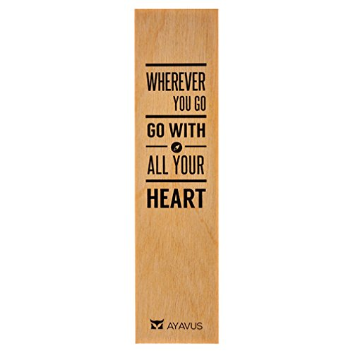 Wherever You Go, Go with All Your Heart – Graduation Gift Wood Bookmark Entrepreneur Quote Inspirational Quotes Self Improvement Travel Made in USA