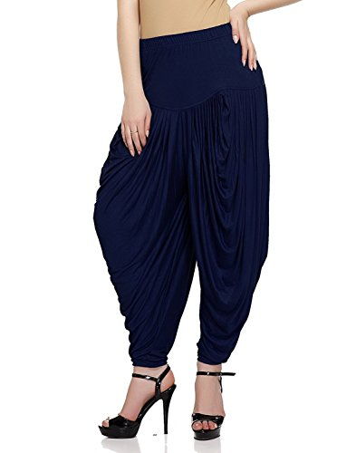 (Ardour Blue Relaxed Comfortable Viscose Dhoti Pants for Women Indian- Free Size.Dhoti Pants for Girls.Salwar Pants for Women)