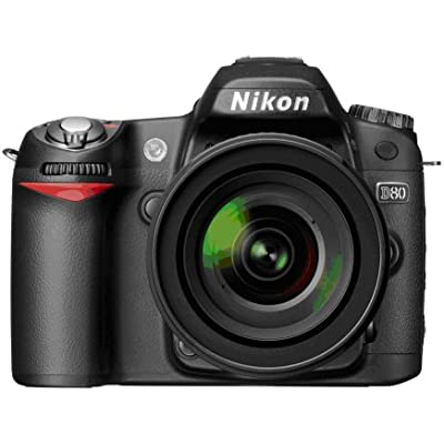 Nikon D80 10.2MP Digital SLR Camera Kit with 18-55mm ED AF-S DX Zoom-Nikkor Lens