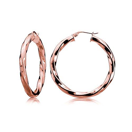 rose-gold-flash-sterling-silver-35mm-twist-design-round-hoop-earrings-25mm