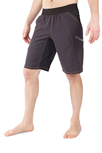 Ucraft Climbing Anti-Gravity Shorts. Stretchy, Lightweight and Breathable Multisport Shorts. (Graphite, M)