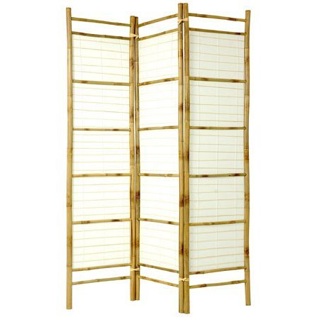 Oriental Furniture 6 ft. Tall Burnt Bamboo with Rice Paper Shoji Screen by ORIENTAL FURNITURE