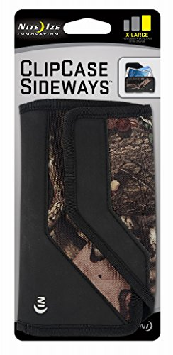 Nite Ize Clip Case Sideways Phone Holster - Protective, Clippable Phone Holder For Your Belt Or Waistband - Extra Large - Mossy Oak (Nite Phone Ize Cell Case)