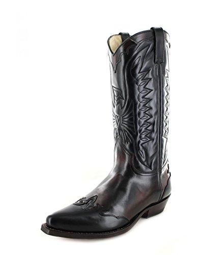 Tony Mora65099 - Botas De Vaquero Mujer Varios Colores - Burdeos Negro