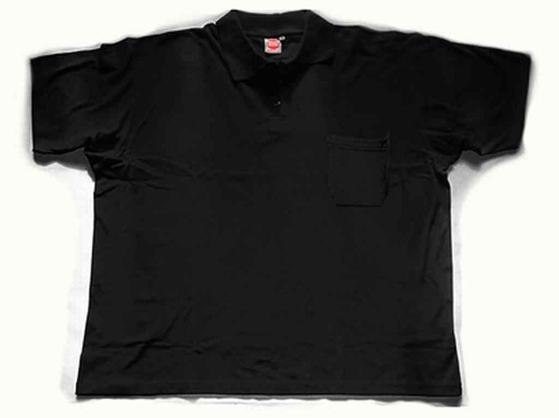 Honeymoon Polo-Shirt WITH chest pocket black 5XL
