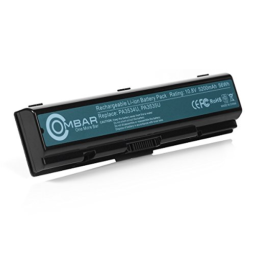 Toshiba PA3534U-1BRSR Battery, Ombar Laptop Battery for Toshiba L505 PA3535U-1BRS PA3727U-1BRS PA3533U-1BRS, Toshaiba Satellite L500 L450D L300 A200 A205 A210 A215 A300 with Samsung Grade A 6 Cells (Toshiba Computer Battery)