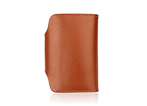 Card Wallet Unisex Card Leather Credit Holder Coffee Brown Aiklin AX47Y