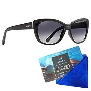 UV-BANS Women Luxury Cat Eye Sunglasses, Polarized, UV 400, Gradient Lens
